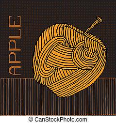 Woodcut Apple