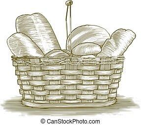 Woodcut Bread Basket