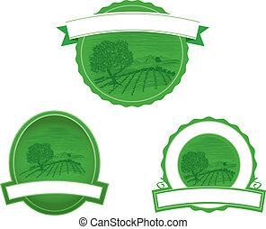 woodcut, fazenda, cena