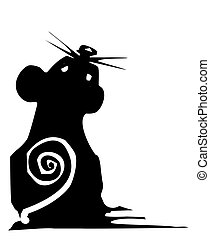 Woodcut style Mouse - Woodcut style expressionistic mouse ...
