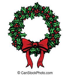 Woodcut wreath