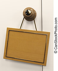 3d tablet - Wooden 3d tablet, hanging on the door handle