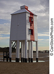 Wooden 9 leg lighthouse at Burnham-on-Sea
