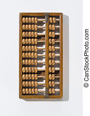 Wooden Abacus Isolated on White Background