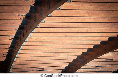 Wooden abstract details of a wooden structure