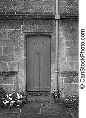 wooden ajtó, öreg, anglia, hasít