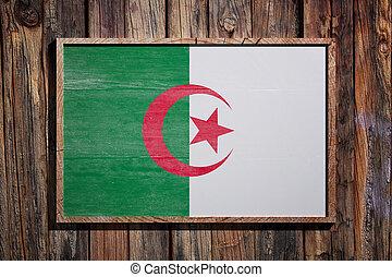 Wooden Algeria flag
