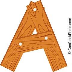 wooden alphabet A letter