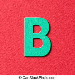 Wooden alphabet B in capital letter