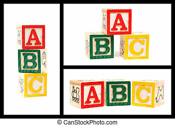 Wooden Alphabet Blocks-ABC