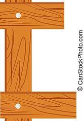 wooden alphabet C letter