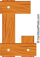 wooden alphabet G letter