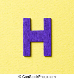Wooden alphabet H in capital letter