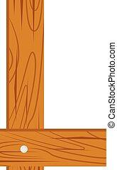 wooden alphabet L letter