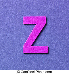 Wooden alphabet Z in capital letter