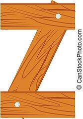 wooden alphabet Z letter