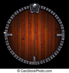 Wooden and Metal Circle Background