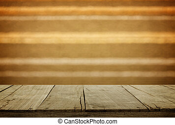wooden and wall blur background
