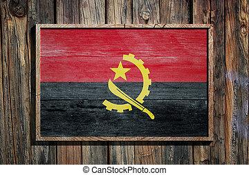 Wooden Angola flag