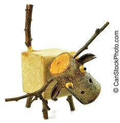 wooden animal doll