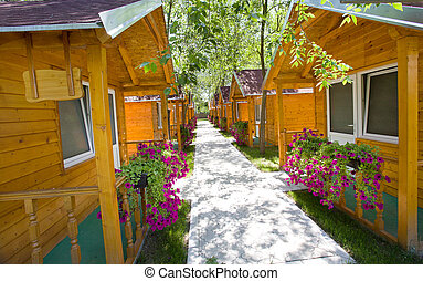 Wooden appartments - Holiday apartments - street of small...