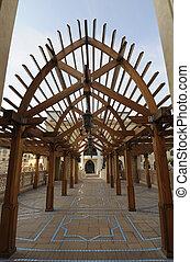 Wooden Archway at Dubai Mall, United Arab Emirates