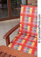 Wooden armchair detail