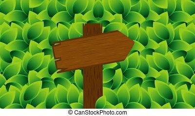 Wooden arrow, animation