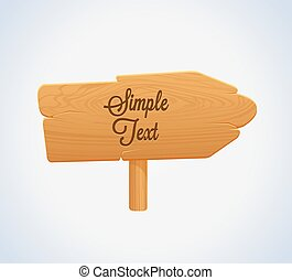 Wooden Arrow Board Icon