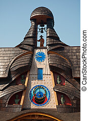 wooden astronomical clock - astronomical clock in Stara ...