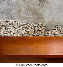 wooden asztal, üres