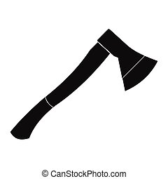 Wooden axe black simple icon
