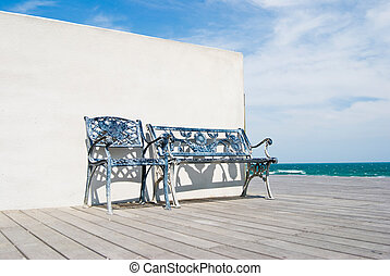 wooden bíróság, tengerpart., emelet