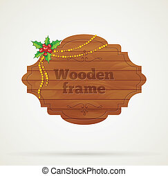 Wooden background - Vector illustration of Wooden background