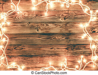 Wooden background for Christmas greeting