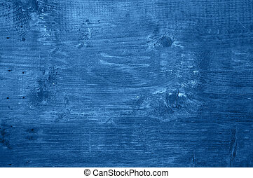 Wooden background in trendy blue color of the year 2020.