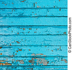 Wooden background light blue color, wood texture, old painted wall lines