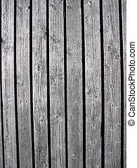 Wooden background - Natural gray old wooden board background...