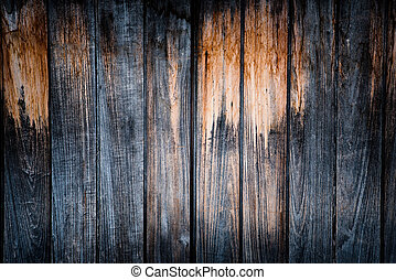 wooden background - square format old, grunge wood