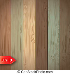 Wooden background - wooden board with different colors...