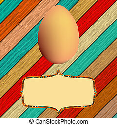 Wooden background with Easter eggs. + EPS8