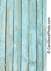 wooden background with old blue paint