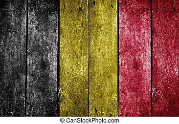wooden background with the country flag