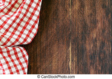 Wooden background with towel