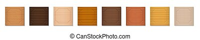 Wooden Badges Square Format Set