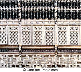 wooden balcony in lima