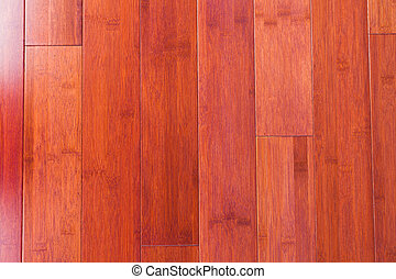 Wooden bamboo flooring grain texture background - Red-brown...