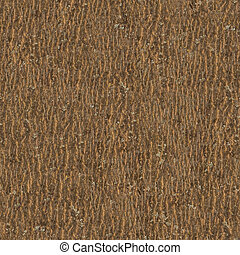 Brown Dark Wooden Bark. Seamless Texture. Tileable Pattern. Tessellated Pattern