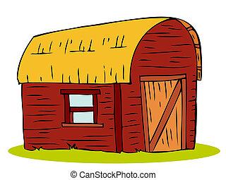 Wooden Barn house.  - Wooden Barn house.