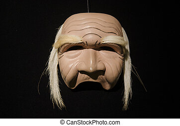 Wooden Barong mask from Tegallalang in Bali, Indonesia